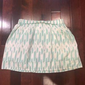 J.Crew Factory Tribal Ikat A Line Cotton Skirt